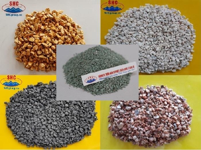 Đá hạt CaCO3 sản xuất chậu đá mài