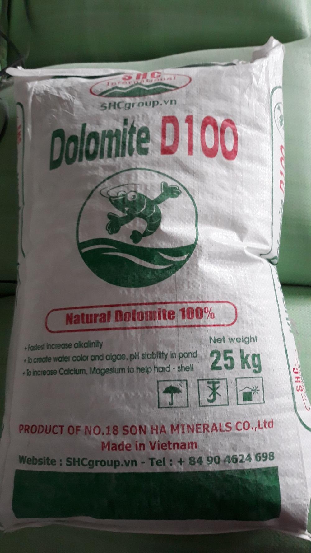 Dolomite D100 hàm lượng MgO 19%